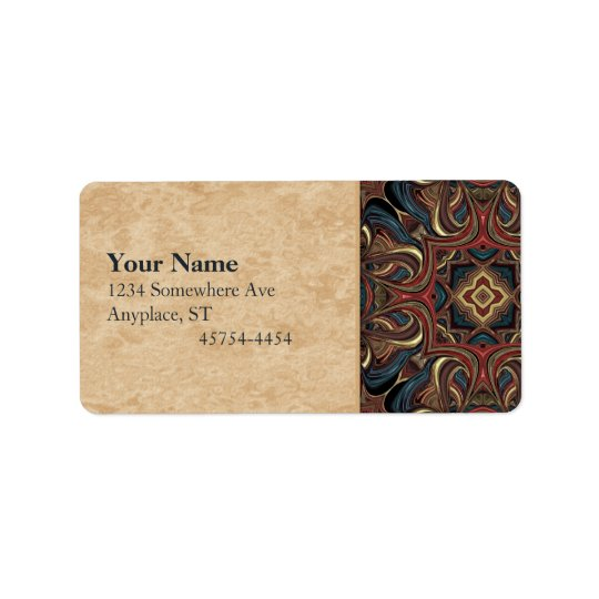 Acrylic Vision Mandala Address Avery Label Address Label
