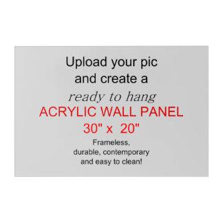 Acrylic Wall Art 30 x 20 - Add pics and text!