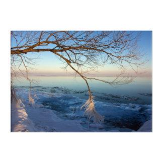 Acrylic Wall Art, Winter Scene. Acrylic Print