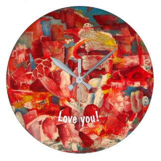 """acrylic wall clock  """"Hot"""""""