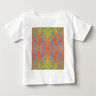 Acryllic Abstract Orange and Blue Trippy Pattern Baby T-Shirt