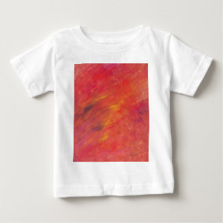 Acryllic Abstract Painting in Reds - Wildfire Baby T-Shirt