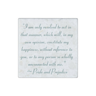 Act in Manner to Constitute Happiness Jane Austen Stone Magnet