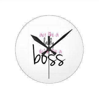 Act Like a Lady Think Like a Boss Clocks