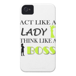 Act Like A Lady Think Like A BOSS iPhone 4 Case