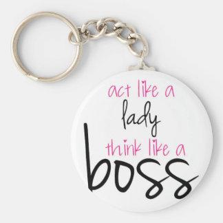 Act Like a Lady Think Like a Boss Key Ring