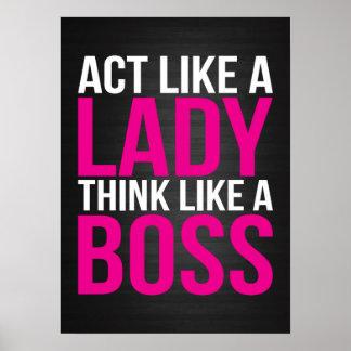 Act Like A Lady, Think Like A Boss Poster