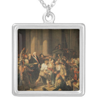 Act of Courage of Monsieur Defontenay Silver Plated Necklace