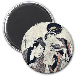 Act six of the Chushingura by Kitagawa, Utamaro Magnet