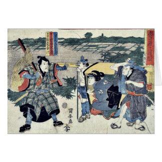 Act six of the Chushingura by Utagawa, Kuniyasu Uk Card