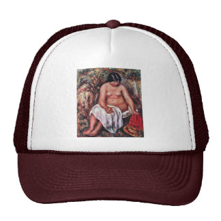 Act With A Straw Hat By Pierre-Auguste Renoir Trucker Hat