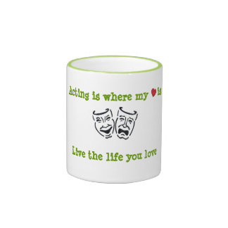 Acting Is Where My Heart Is Ringer Mug