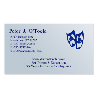 Acting & Theater Arts Business Card