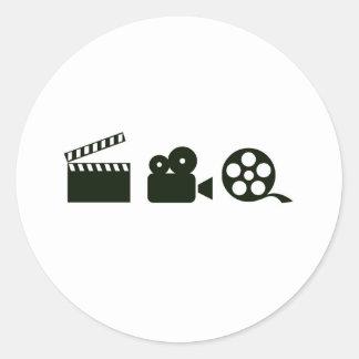 action camera film.jpg classic round sticker