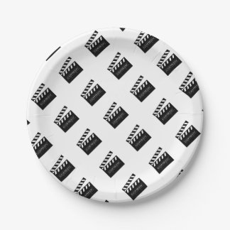 Action - comedy movie. paper plate
