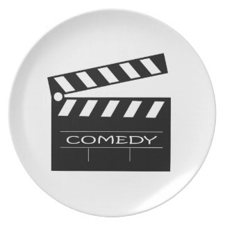 Action - comedy movie. plate