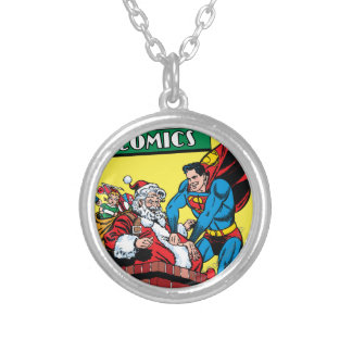 Action Comics #105 Silver Plated Necklace