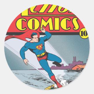 Action Comics 25 Round Stickers