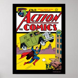 Action Comics #33 Poster