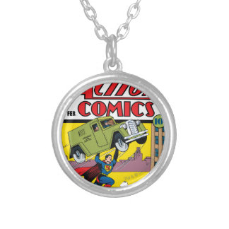 Action Comics #33 Silver Plated Necklace