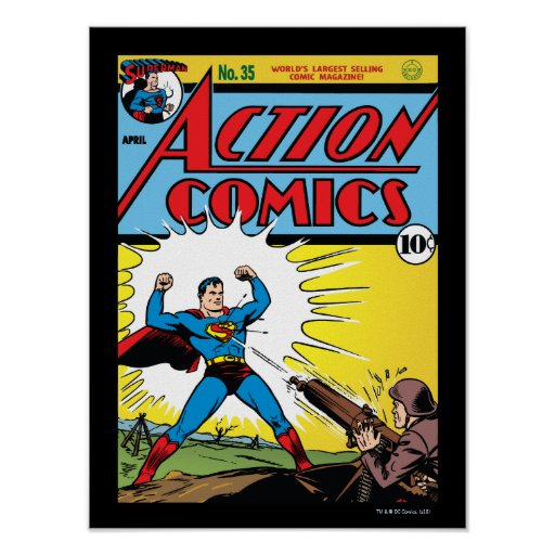 Action Comics #35 Poster