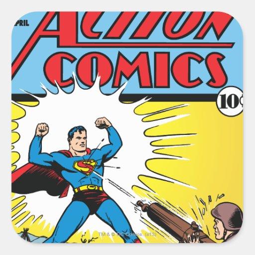 Action Comics #35 Square Stickers