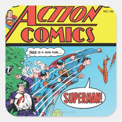 Action Comics #426 Square Stickers