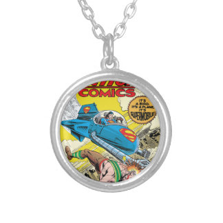 Action Comics #481 Silver Plated Necklace