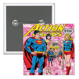 Action Comics 500 Oct 1979 Buttons