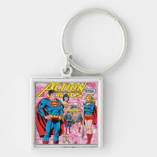 Action Comics #500 Oct 1979 Silver-Colored Square Key Ring