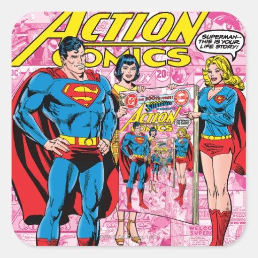Action Comics #500 Oct 1979 Stickers