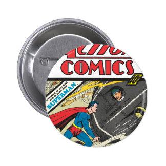 Action Comics - August 1939 6 Cm Round Badge