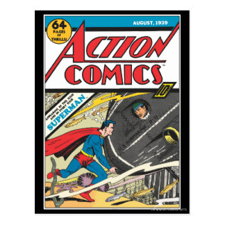 Action Comics - August 1939 Postcard