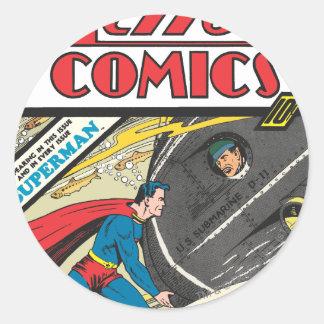 Action Comics - August 1939 Round Sticker