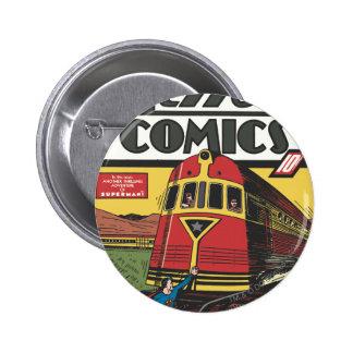 Action Comics - June 1939 6 Cm Round Badge