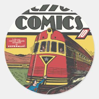 Action Comics - June 1939 Round Sticker