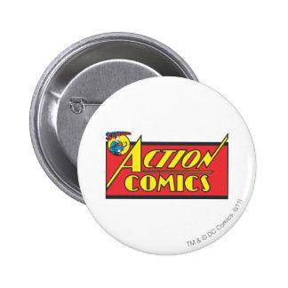 Action Comics - Superman 6 Cm Round Badge