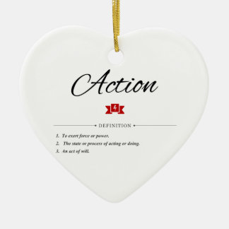 Action Defined Ceramic Ornament