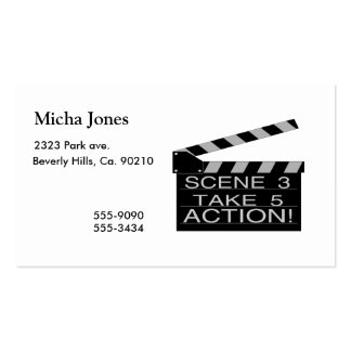 Action Directors Clapboard Pack Of Standard Business Cards