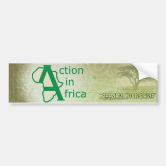 Action in Africa Bumper Sticker