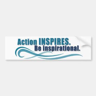 Action Inspires Bumper Sticker