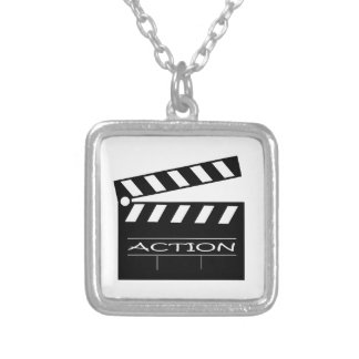 Action - movie. silver plated necklace