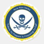 Action Not Words - Latin- Acta Non Verba Sticker