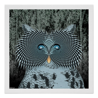Action Owl Poster