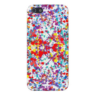 Action Painting Splatter Art Cover For iPhone 5