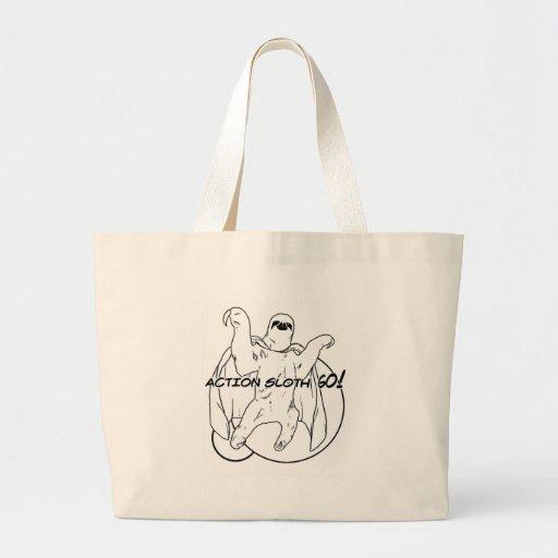 Action Sloth, Go! Jumbo Tote Bag