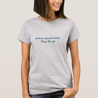 Actions Speak Louder~Hanes Nano V-Neck T-Shirt