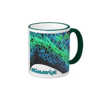 ActionScript- Blue Green Dome Ringer Coffee Mug