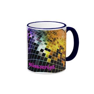 Actionscript- Purple Orange Sunset wave Ringer Coffee Mug