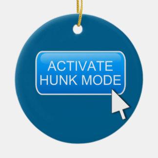 Activate hunk mode. round ceramic decoration